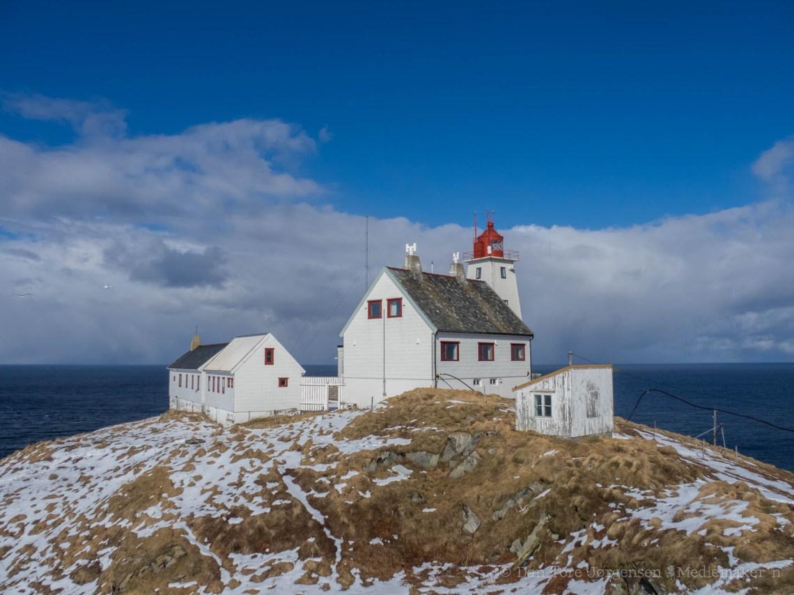 Vardø fyr med fyrvokterhuset på Hornøya