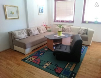 Living Room at Cozy Debar Maalo on Airbnb Skopje, Macedonia