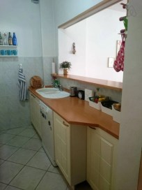 Kitchen at Cozy Debar Maalo on Airbnb Skopje, Macedonia