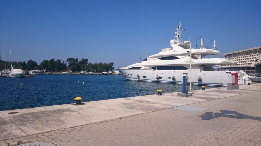 A yacht at the marina at Porto Carras Sithonia