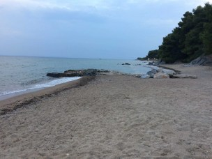 The beach in front of the Kids Camp in Metamorfosis