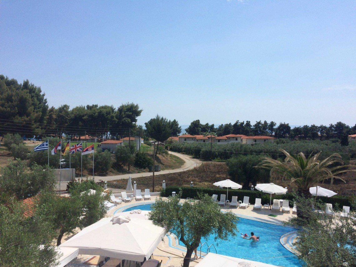 View from the balcony - Olympic Bibis Hotel Review