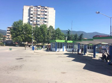Another view of tje bus station in Vranje, Serbia