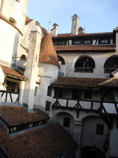 The courtyard of the Bran Castle