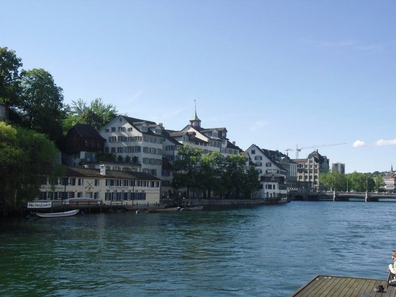 House by the Limmat River