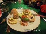 Traditional appetizer during the Romanian night at the Dracula Tour
