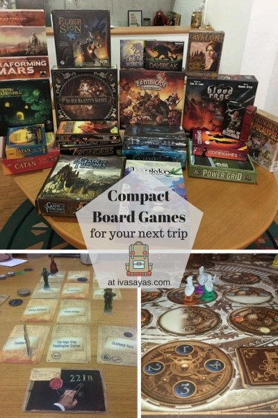 Our list of travel games that are travel-friendly and entertaining and can easily be carried and packed in a bag for your next group - Iva Says