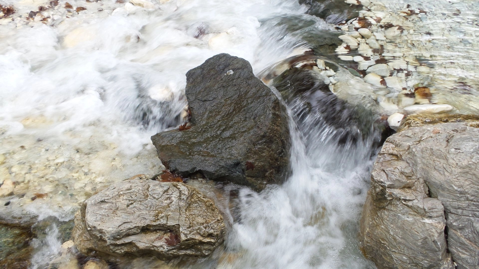 Natural hot spring water in Loutra Pozar, Greece