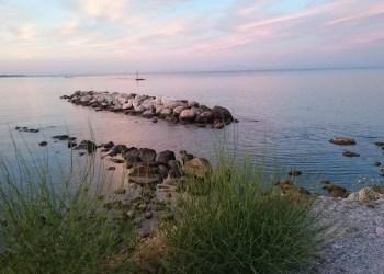 Sunset in Pieria over the sea