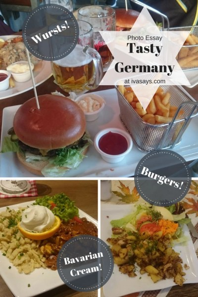 Germany is a wonderful country with lots of offerings to foodies. Visitors can enjoy tasty German wursts, Bavarian cream desserts and lots of beer - Iva Says