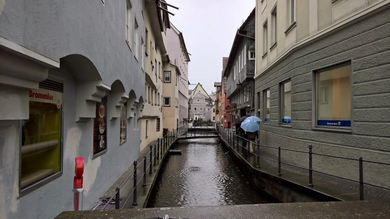 Water Canal in Memmingen, Germany