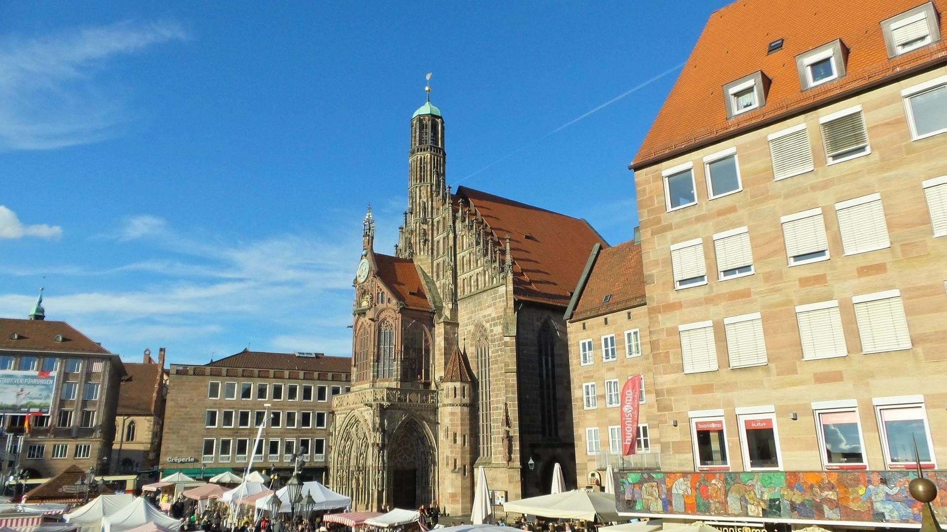 Church of Our Lady or Frauenkirche Nürnberg in NUremberg