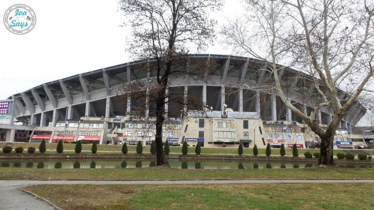 City Park and Stadium Skopje Macedonia