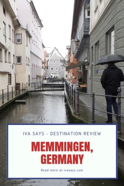 Pinterest pin for Destination Review Memmingen, Germany