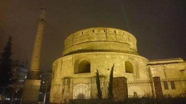 Rotònda Roman Temple in Thessaloniki, Greece at Night