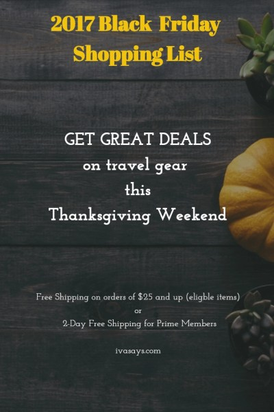 2017 Thanksgiving and Black Friday Deals on Iva Says