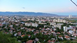 View from Vodno to Skopje