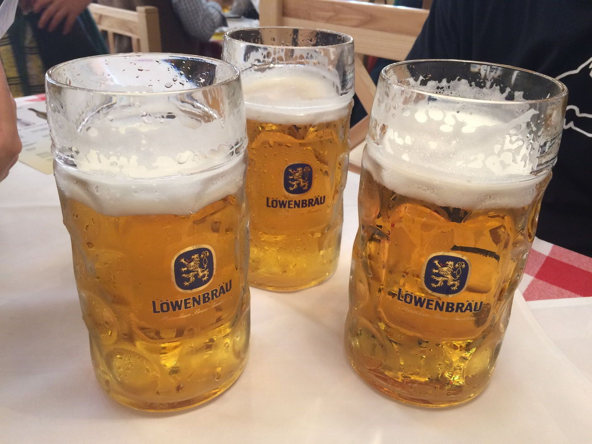 1 Liter Beer at Oktoberfest Munich Germany 2017