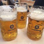 1 Liter Beer at Oktoberfest Munich Germany 2017