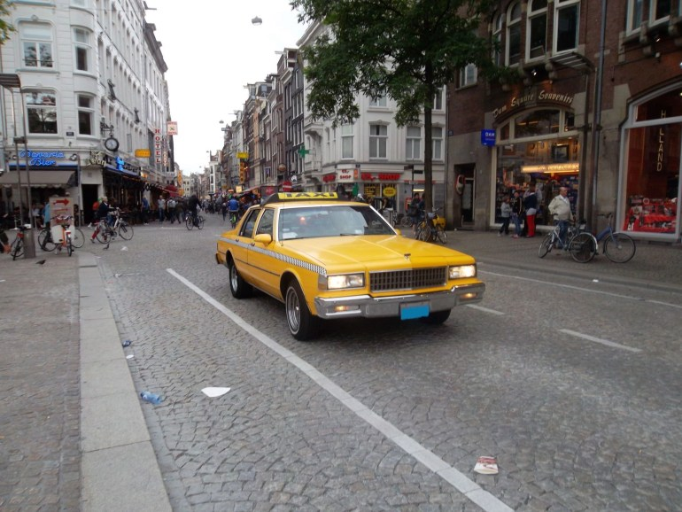 A 1970's Taxi Cab in Amsterdam, Netherlands