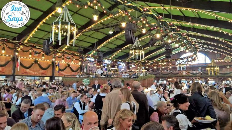 Inside one of the tents at Oktoberfest Munich 2017