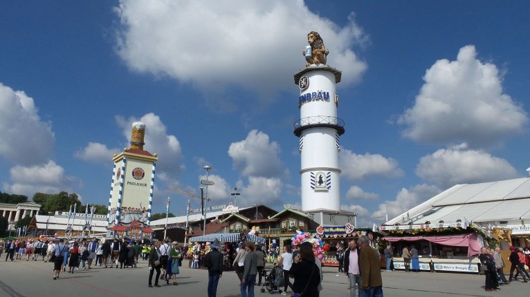 Beer tents at Oktoberfest 2017 Munich Germany