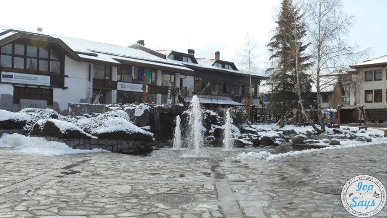 The center of Bansko and the old town
