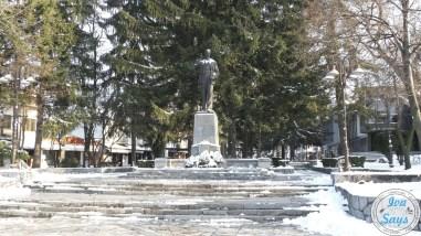 Nikola Vaptsarov Statue in Bansko