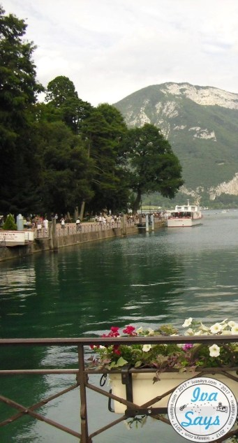 Looking at Lake Annecy from the Pont des Amours (The Lover's Bridge)