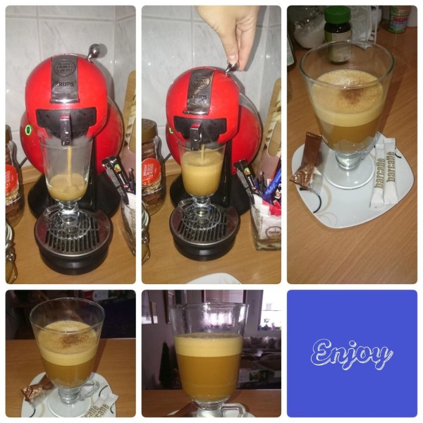 Instructions how to make a  Cortado from a Dolce Gusto Machine (with pictures) - Iva Says