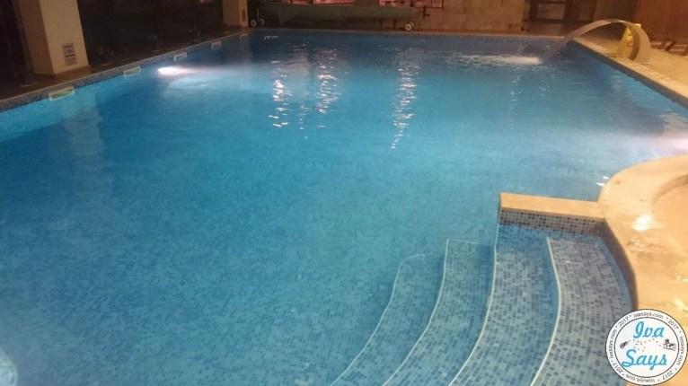 The natural mineral water swimming pool at St. George Ski and Spa Hotel in Bansko, Bulgaria