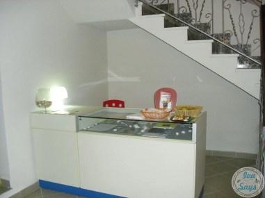 The reception area at Residenza Biondo