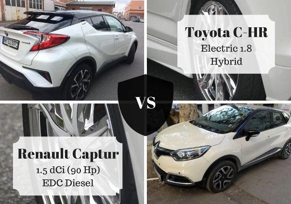 Comparison of Toyota C-HR vs Renault Captur