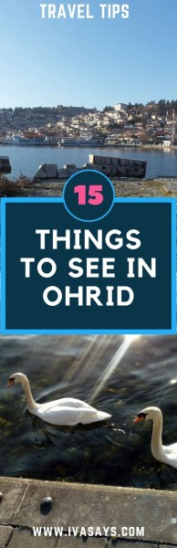 15 Things to see and do in the UNESCO World Heritage site of Lake Ohrid and the city Ohrid in Macedonia. #travel #bucketlist #europe #unesco