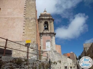 church of San Giuliano and Castello Pepoli in Erice, Sicily