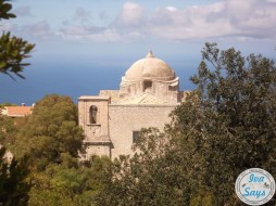 Close up of the Chiesa di San Giovanni Battista in Erice, Sicily (Italy)