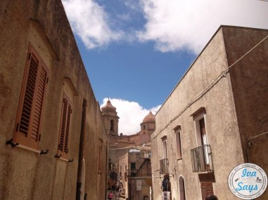 Exploring the city Erice in Sicily.