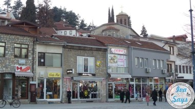The bazaar or market known as Charshija in Ohrid, Macedonia. Charshija comes from the Turkish language.