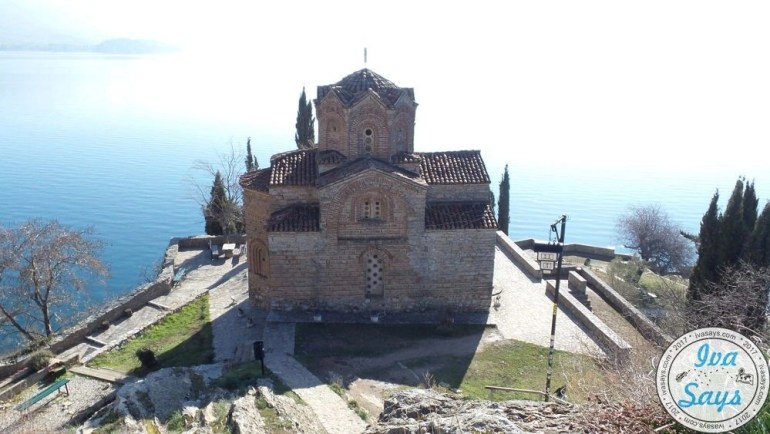 St. John Theologian at Kaneo was built in the 13th century, built in Byzantine style, located in Ohrid, Macedonia.