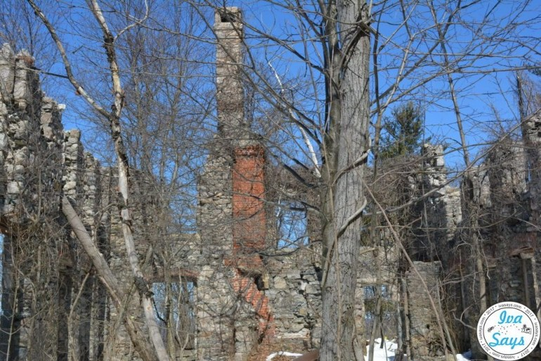 The ruins of the Van Slyke Castle in Ramapo Mountain State Forest.