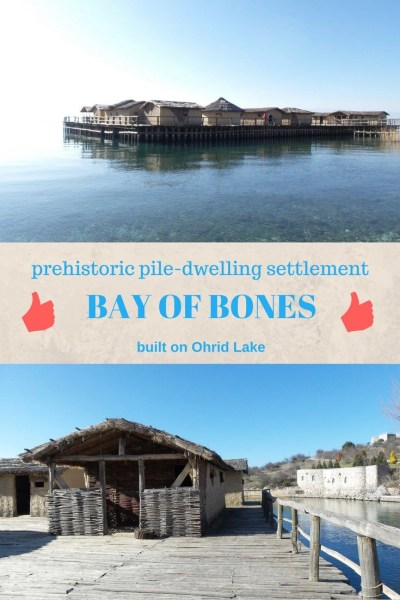 The Museum on Water Bay of Bones in Ohrid. Macedonia located on Lake Ohrid.