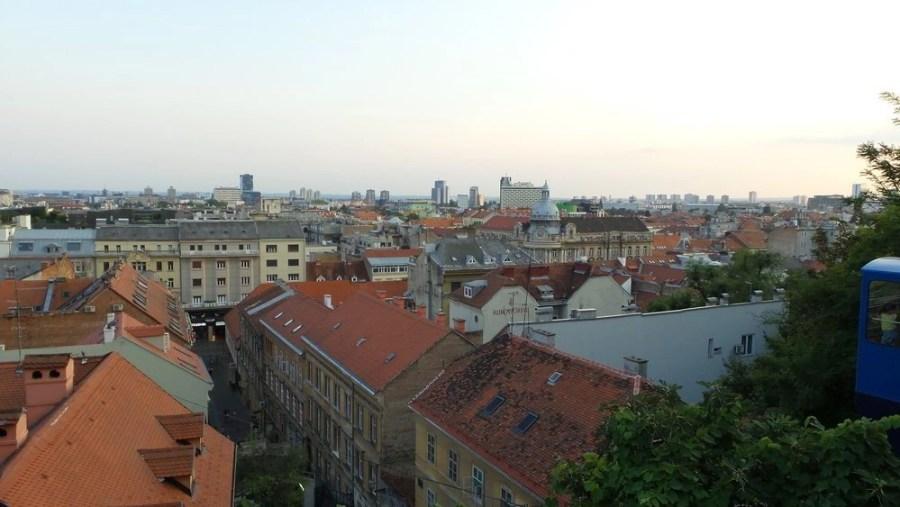 Panoramic view of Zagreb.
