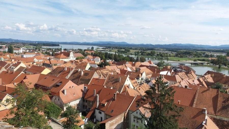 Panoramic view of Ptuj.