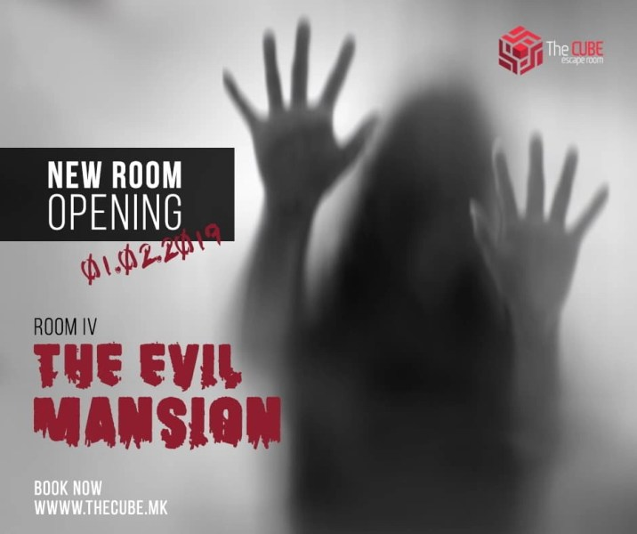 The evil mansion escape room in Skopje.