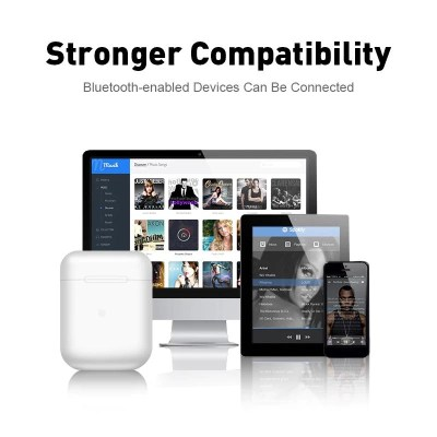 Wireless Earbuds compatible with any bluetooth device.