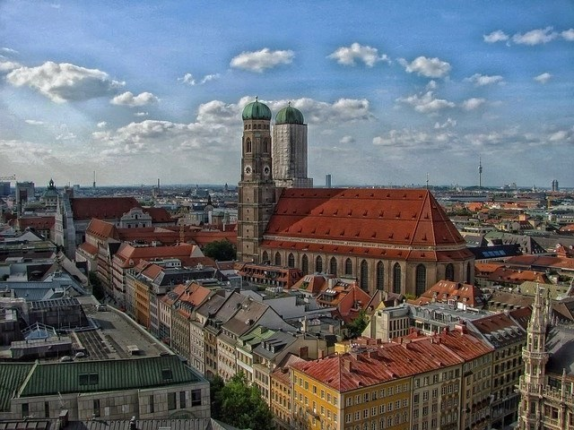 City view of Munich, Germany.