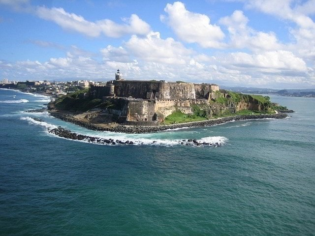 Fortress on a cliff in Puerto Rico
