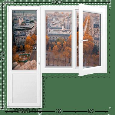 Балконный блок с окном Иваново