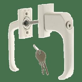 Балконный гарнитур асимметричный (белый; коричневый) с ключом