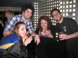 Live Show #2 at Ochi's Lounge- L to R- Sharon Jamilkowski, Tom Lorenzo, Jenn Dodd and Ben Hill.